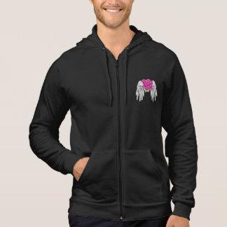 Bröstcancer överlevandekapacitetsjacka tröja med luva