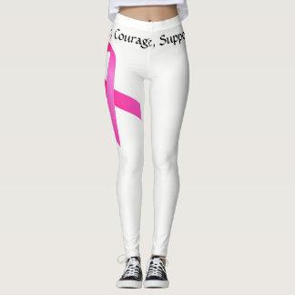 Bröstcancerdamasker Leggings