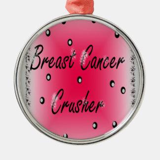 Bröstcancerkross Julgransprydnad Metall