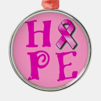 Bröstcancermedvetenhet Julgransprydnad Metall