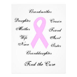 Bröstcancermedvetenhet Reklamblad