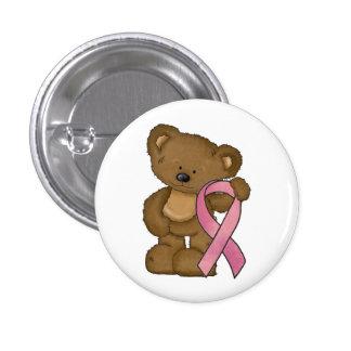 Bröstcancermedvetenhetstift knäppas litet mini knapp rund 3.2 cm