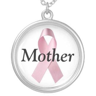 Bröstcancermor Silverpläterat Halsband