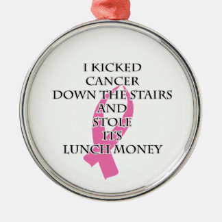 Bröstcanceröversittare Julgransprydnad Metall