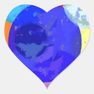 Bröt platser hjärtformat klistermärke