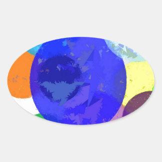 Bröt platser ovalt klistermärke