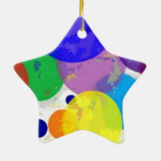 Bröt platser stjärnformad julgransprydnad i keramik