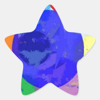 Bröt platser stjärnformat klistermärke