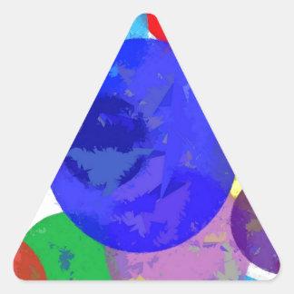 Bröt platser triangelformat klistermärke