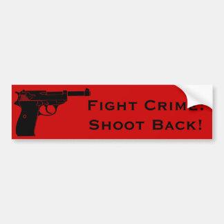 Brotts- forbaksida för slagsmål med pistolen bildekal