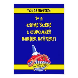 Brotts- inbjudan för gåta för mord för