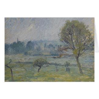 Brouillard à Éragny av Camille Pissarro Hälsningskort