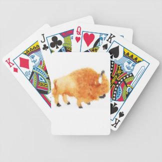 Bruce de pllaying korten för buffel spelkort