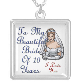 Brud av 10 år silverpläterat halsband