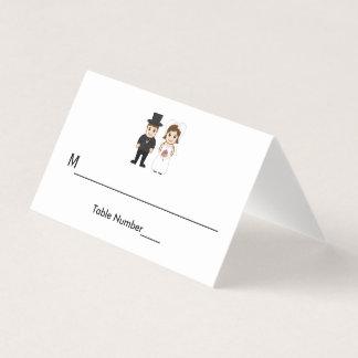 Brud & brudgum - eskortkort placeringskort