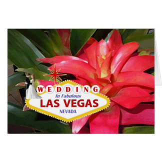 Brud- & brudgumBRÖLLOP i den sagolika Las Vegas Hälsningskort