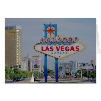 Brud/brudgumbröllop i det Vegas kortet Kort