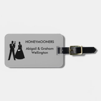 Brud- & brudgumbröllopsresa bagagebricka