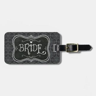 Brud damastast märkre för Blackboardbagage Bagage Etiketter