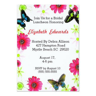 Brud- Luncheoninbjudan för vår blommor Personliga Inbjudan