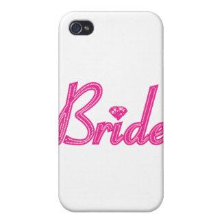 Brud med Bling - rosa iPhone 4 Fodraler