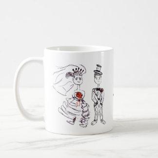 Brud och Groom/Mr. & Fru Kaffemugg