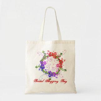 Brud- shopping bag tygkassar