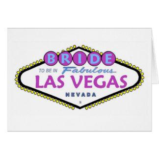 Brud som är i det sagolika Las Vegas kortet Hälsningskort