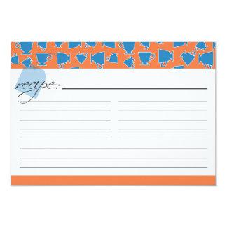 Brud- Teareceptkort - orange och blått 8,9 X 12,7 Cm Inbjudningskort