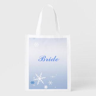 Brud- toto för vinterbröllop återvinningsbar matkasse