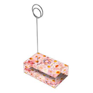 Brud- vår för rosa bröllop för blommabukett blom- bordskorthållare