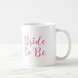 Bruden som är den flott rosan, skrivar vit mugg