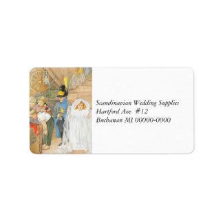 Brudens sida Brudföljet Adressetikett