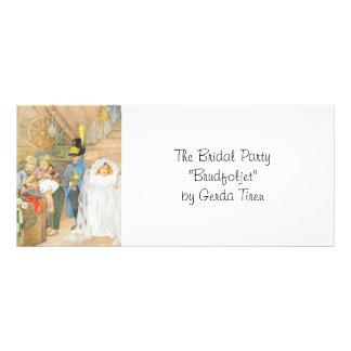 Brudens sida Brudföljet Reklamkort