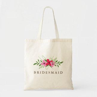Brudens sidamedlemmen hänger lös - blom- dag budget tygkasse
