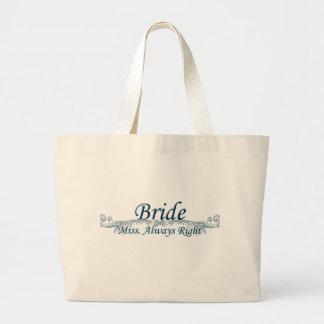 Brudens sidapåsebrud jumbo tygkasse