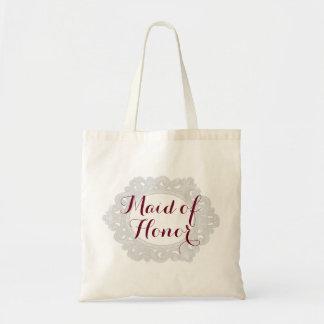 Brudens sidatoto för maid of honor   budget tygkasse