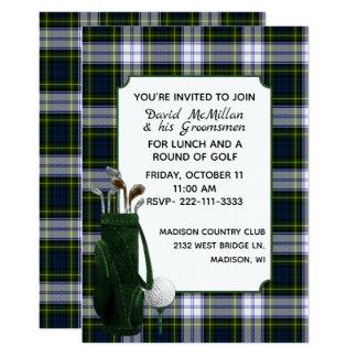Brudgum för Gordon klänningpläd inbjudan för party