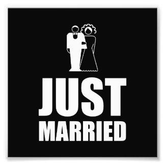 Brudgum för ny giftabröllopbrud fototryck