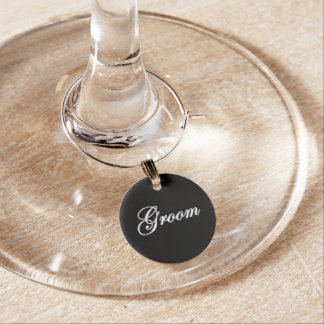 """""""Brudgum"""" vinberlock Glasmarkör"""