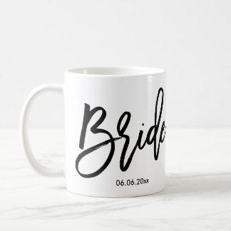 Brudmuggen tillfogar bröllop daterar kaffemugg