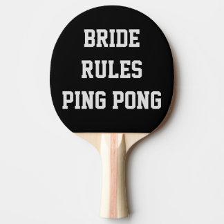 Brudregler som gifta sig pingen Pong, paddlar Pingisracket