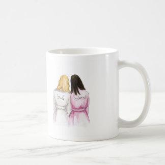 Brudtärna? Maid för vinkar för brud för Kaffemugg