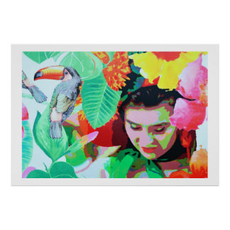 Brudtärna med toucan, Madeira Affisch