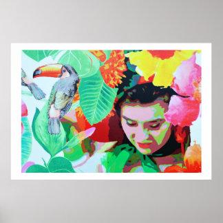 Brudtärna med toucan, Madeira Poster