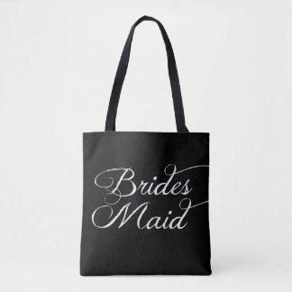 Brudtärnabrölloptoton hänger lös tygkasse