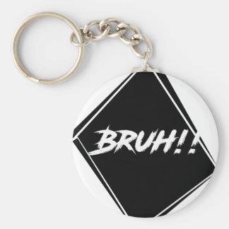 """Bruh"" orddesign Rund Nyckelring"