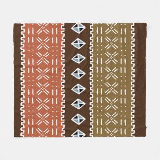 "Brun afrikansk mönsterullfilt, 50"" x60 "", fleecefilt"