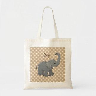 brun baby showerelefant tote bags