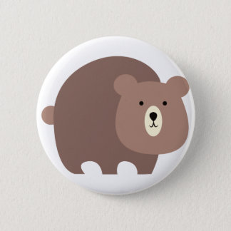 Brun björn standard knapp rund 5.7 cm